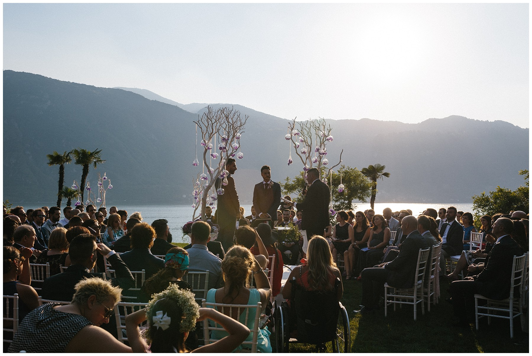 gay wedding como lake